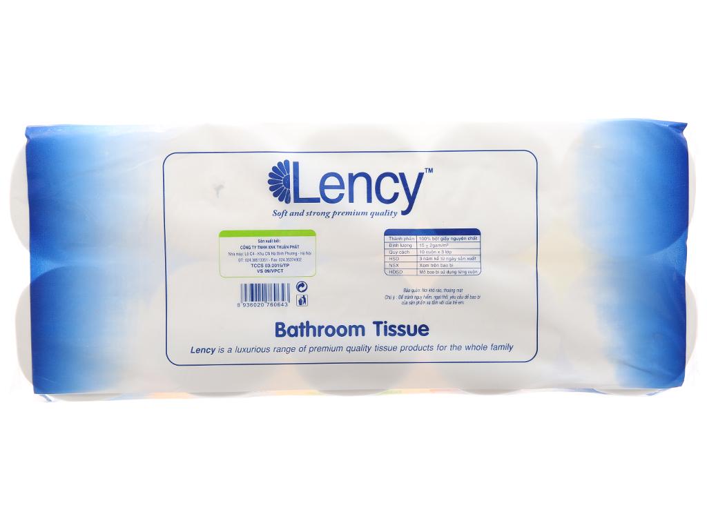 10 cuộn giấy vệ sinh Lency 3 lớp 3