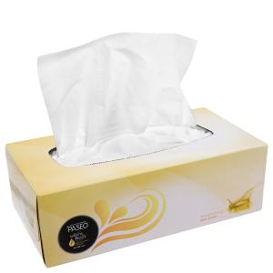 Khăn giấy ăn Paseo Shea Butter hộp 95 tờ 3 lớp