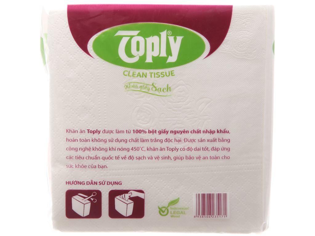 Khăn giấy ăn Toply gói 100 tờ 1 lớp 4