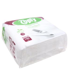 Khăn giấy ăn Toply gói 100 tờ 1 lớp