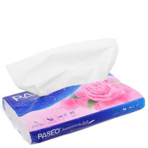 Khăn giấy du lịch Paseo Luxuriously Soft gói 50 tờ 2 lớp