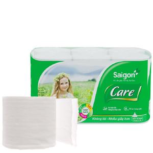 12 cuộn giấy vệ sinh không lõi Saigon Care 2 lớp