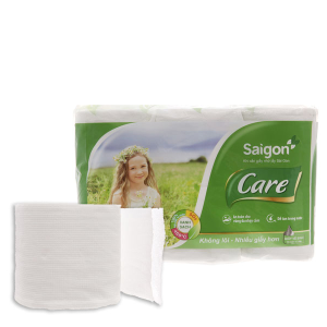 12 cuộn giấy vệ sinh Sài Gòn không lõi 2 lớp