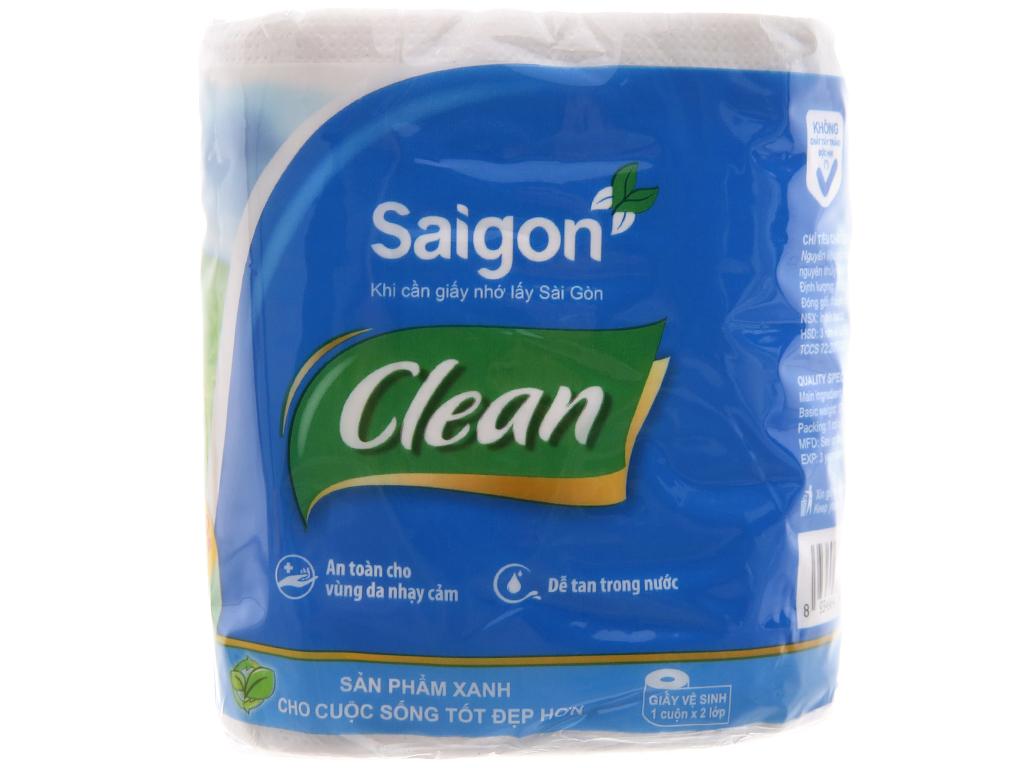 10 cuộn giấy vệ sinh Saigon Clean 2 lớp 3
