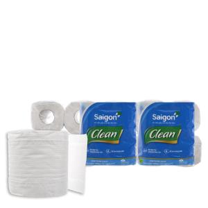 10 cuộn giấy vệ sinh Saigon Clean 2 lớp
