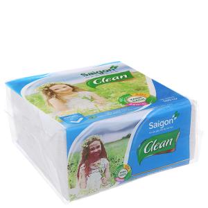 Khăn giấy ăn Saigon Clean 1 lớp gói 100 tờ