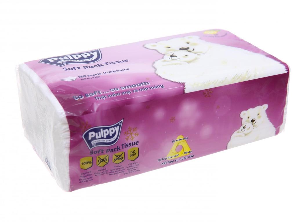Khăn giấy Pulppy gói 180 tờ 2 lớp 1