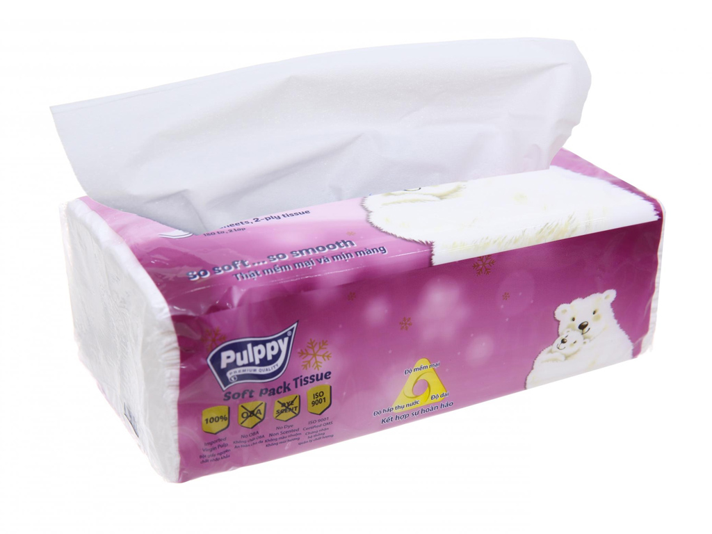 Khăn giấy Pulppy gói 180 tờ 2 lớp 2