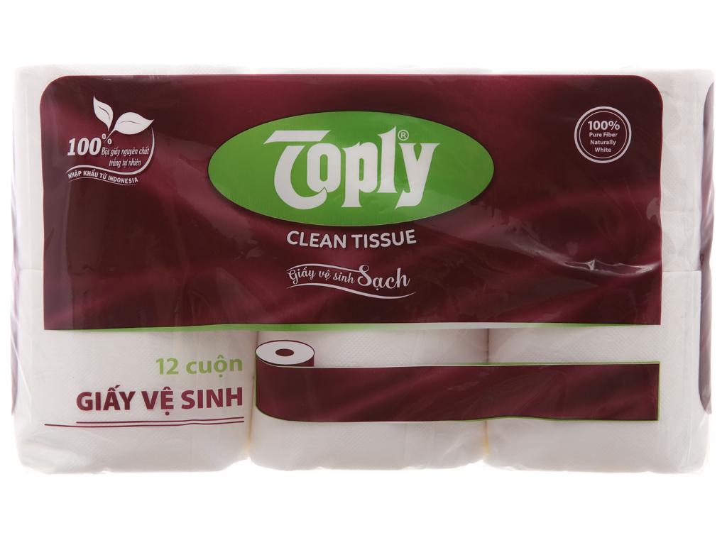 12 cuộn giấy vệ sinh Toply 2 lớp 2