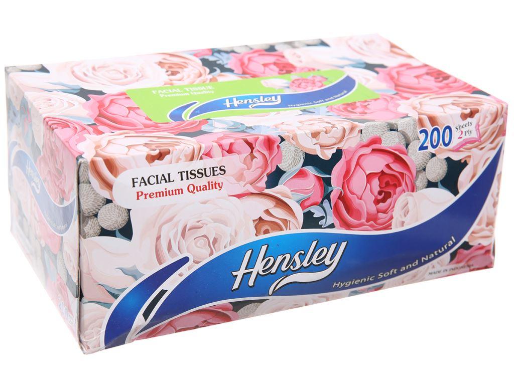 Khăn giấy Hensley 2 lớp hộp 200 tờ 2