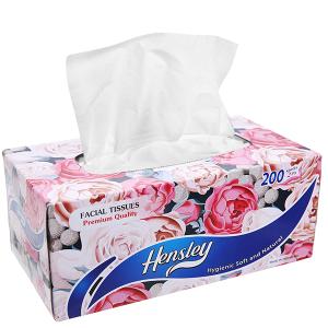 Khăn giấy ăn Hensley hộp 200 tờ 2 lớp