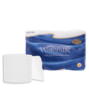 12 cuộn giấy vệ sinh không lõi Watersilk 2 lớp