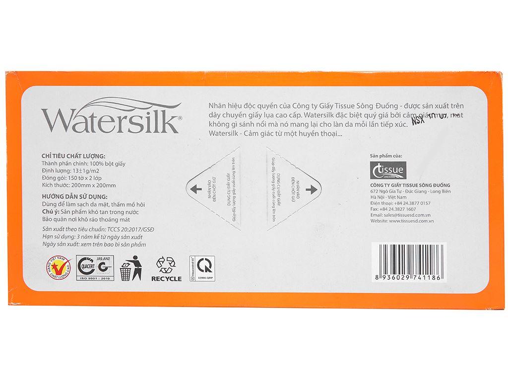 Khăn lau mặt Watersilk Sàigòn hộp 150 tờ 2 lớp 3