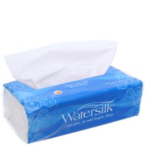 Khăn giấy lau mặt Watersilk gói 200 tờ 2 lớp