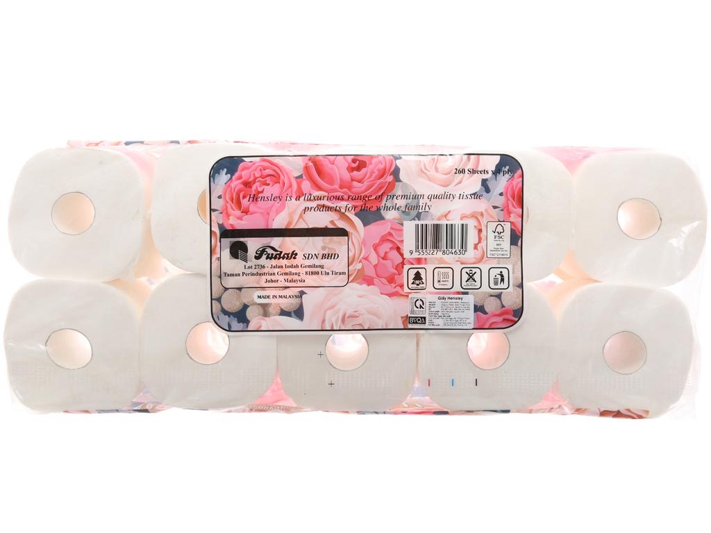10 cuộn giấy vệ sinh Hensley 4 lớp 3