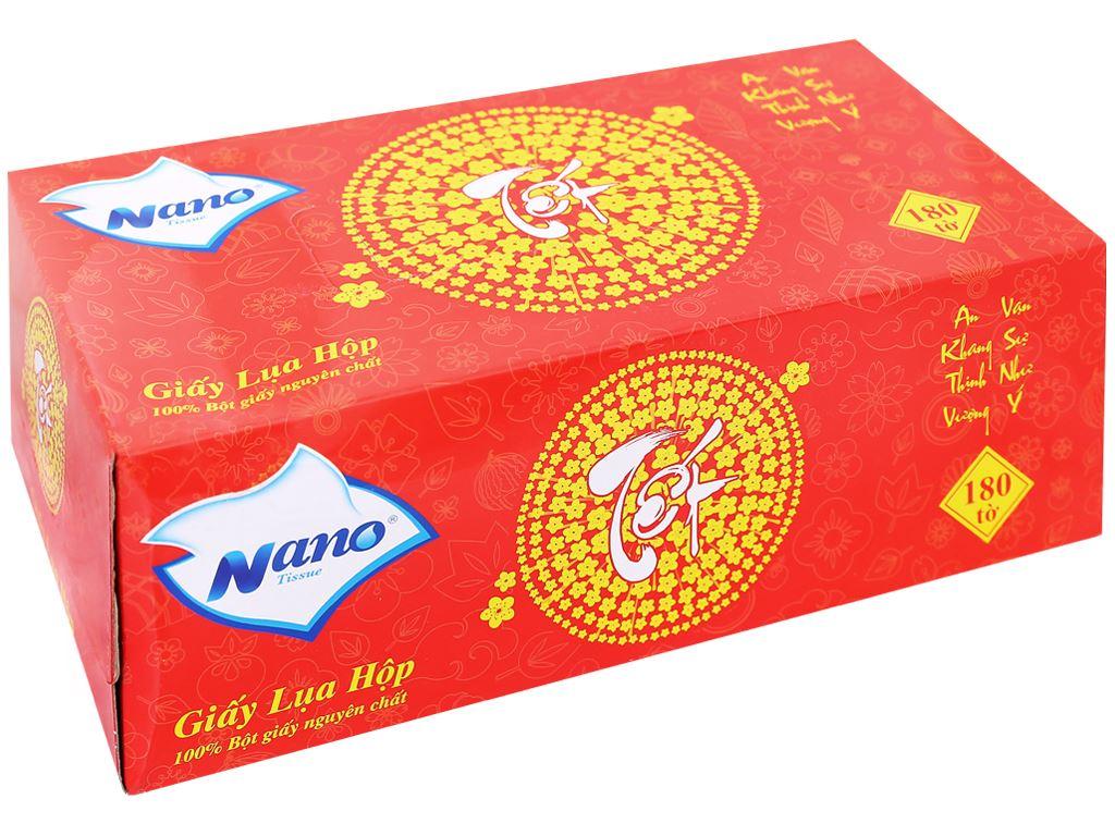 Khăn giấy lụa Nano hộp 180 tờ 2 lớp 5