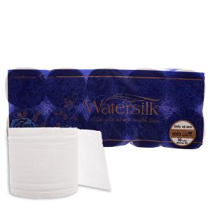 10 cuộn giấy vệ sinh không lõi Watersilk 3 lớp