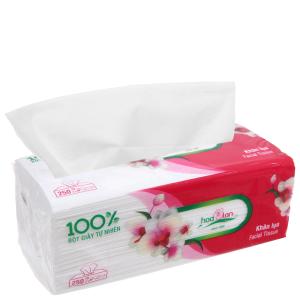 Khăn giấy lụa Hoa Lan gói 250 tờ 2 lớp
