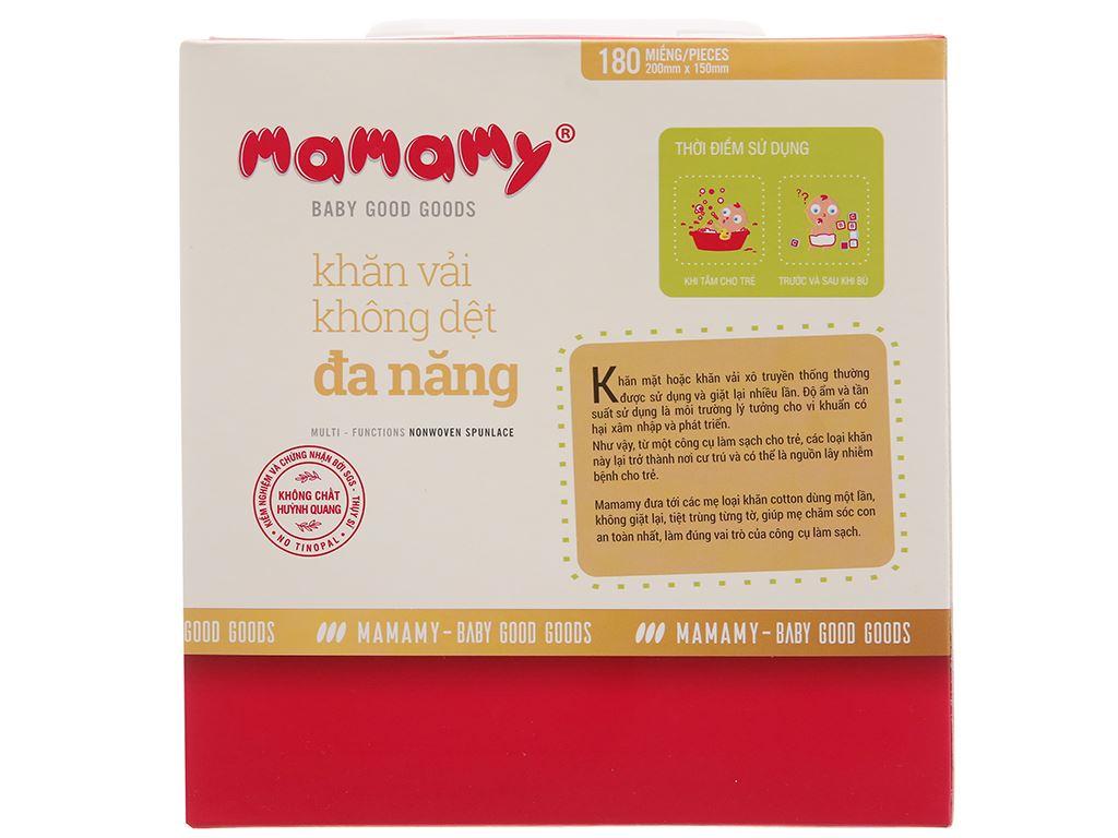 Khăn vải khô không dệt đa năng Mamamy diệt khuẩn hộp 180 tờ 3