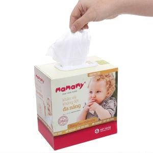 Khăn vải khô không dệt đa năng Mamamy diệt khuẩn hộp 180 tờ