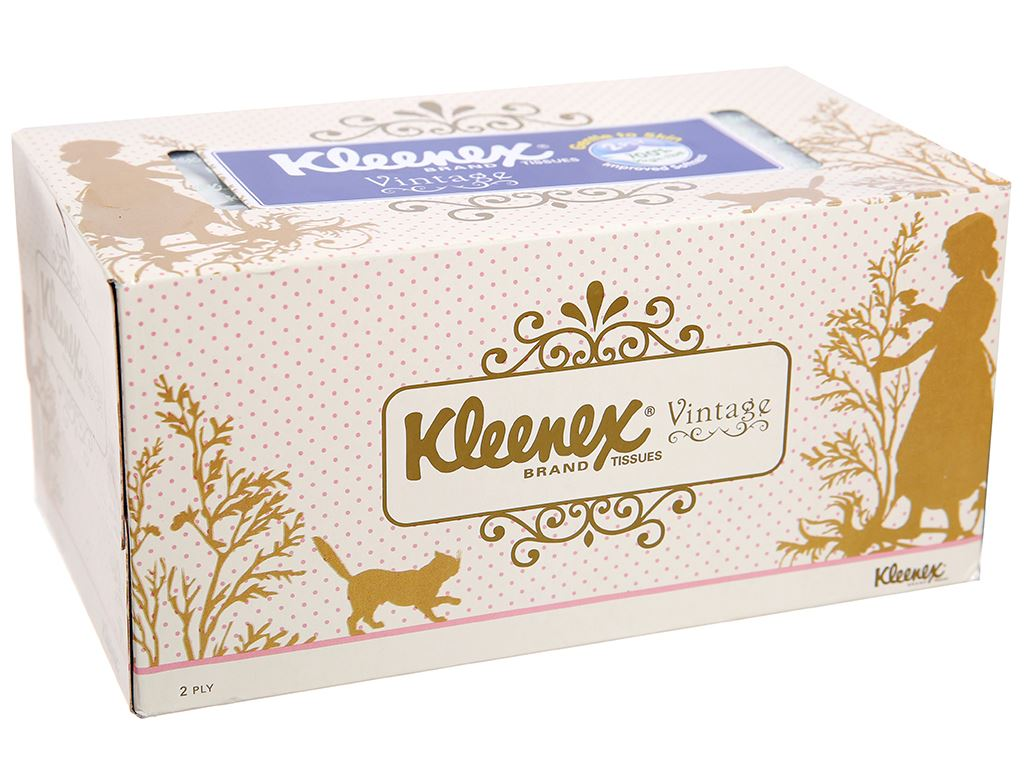 Khăn giấy Kleenex Vintage hộp 170 tờ 2 lớp 1