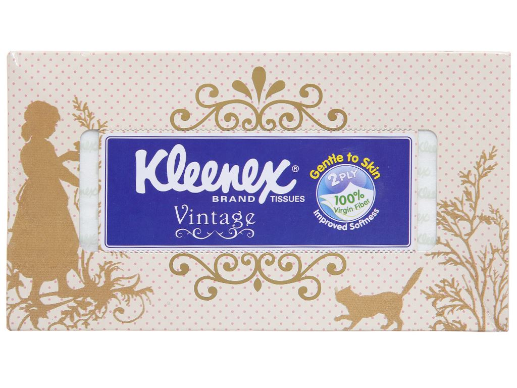 Khăn giấy Kleenex Vintage hộp 170 tờ 2 lớp 2