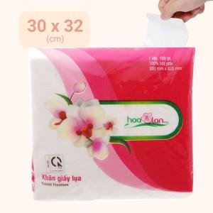 Khăn giấy lụa Hoa Lan 1 lớp gói 100 tờ