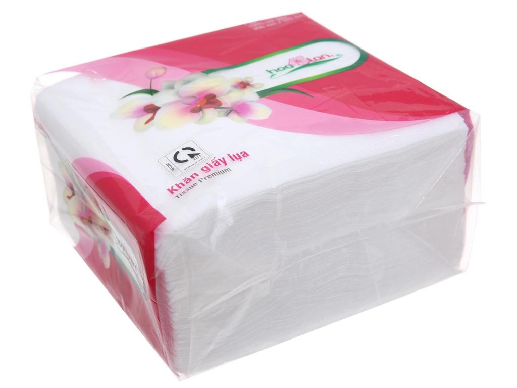 Khăn giấy lụa Hoa Lan gói 100 tờ 1 lớp 30x32cm 1