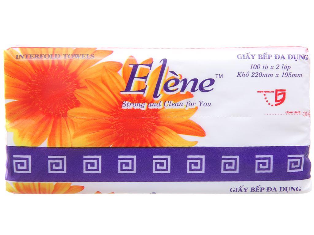 100 tờ Giấy bếp đa dụng Elène hương tự nhiên 1