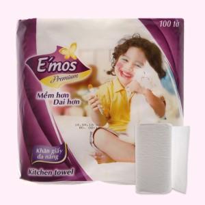 2 cuộn khăn giấy đa năng E'mos Premium 2 lớp