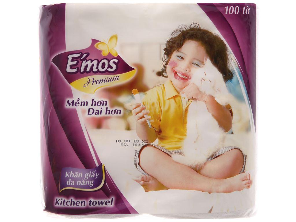 2 cuộn khăn giấy đa năng E'mos Premium 2 lớp 1