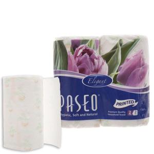 2 cuộn khăn lau bếp đa năng Paseo in hoa 2 lớp