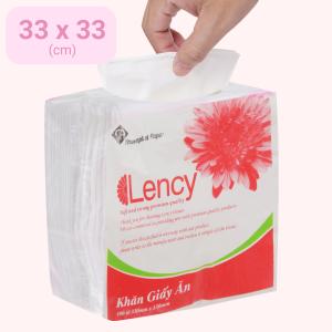Khăn giấy ăn Lency 2 lớp gói 100 tờ