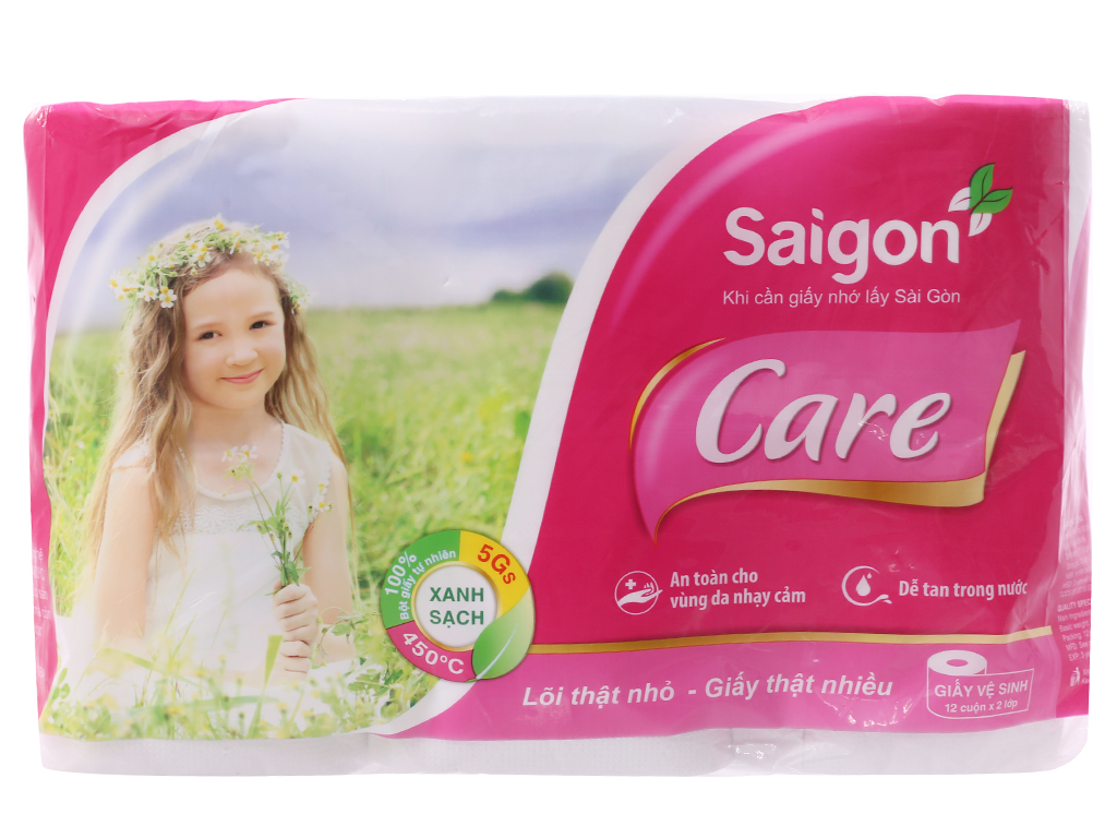12 cuộn giấy vệ sinh Saigon Care 2 lớp 2