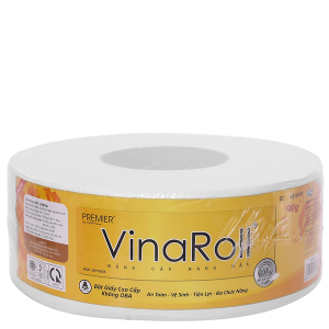 Giấy vệ sinh cuộn lớn Premier VinaRoll 2 lớp 700g