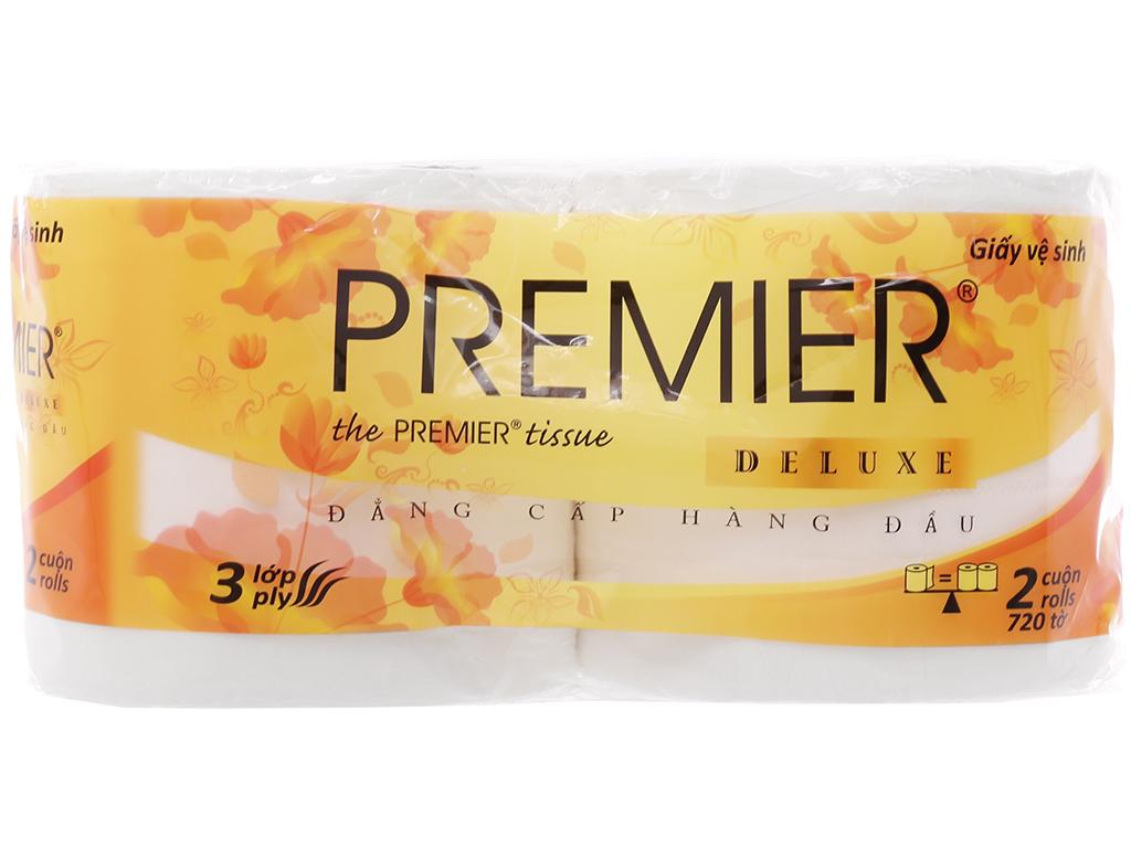 5 lốc giấy vệ sinh Premier Deluxe 3 lớp (2 cuộn/lốc) 3