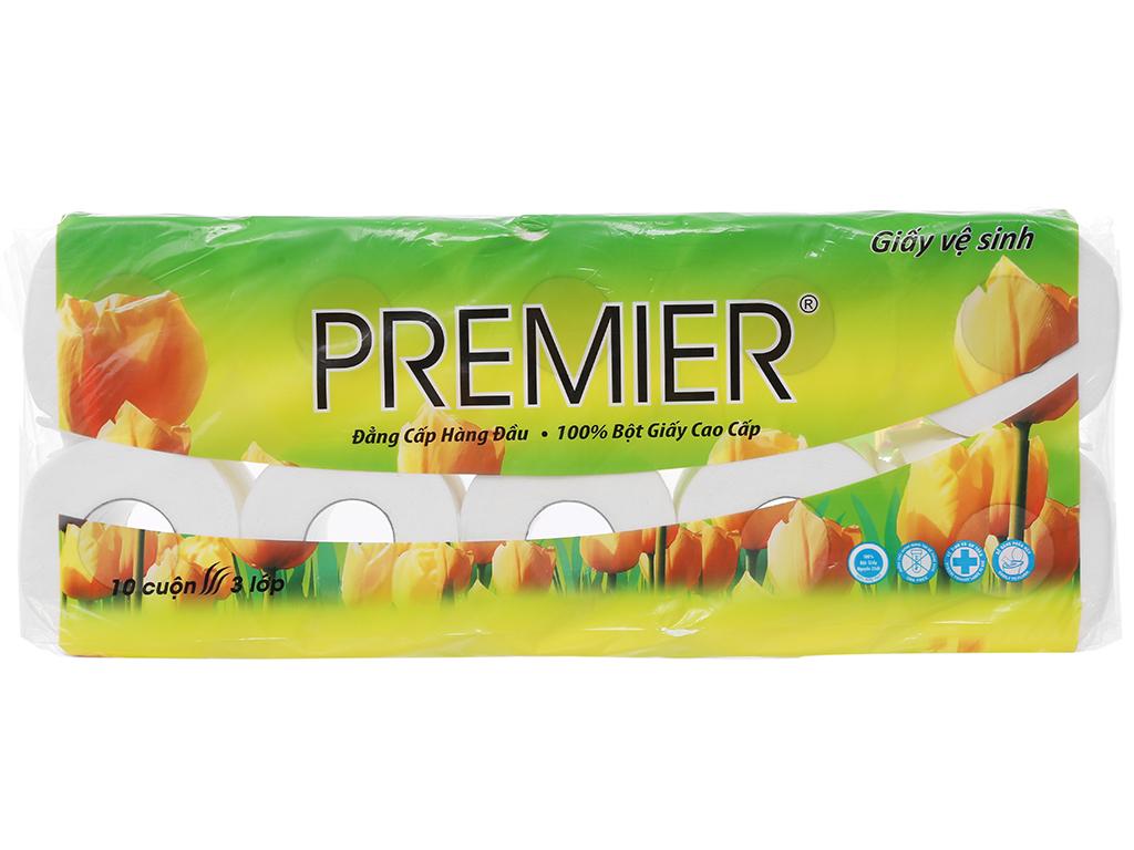 10 cuộn giấy vệ sinh Premier 3 lớp 1