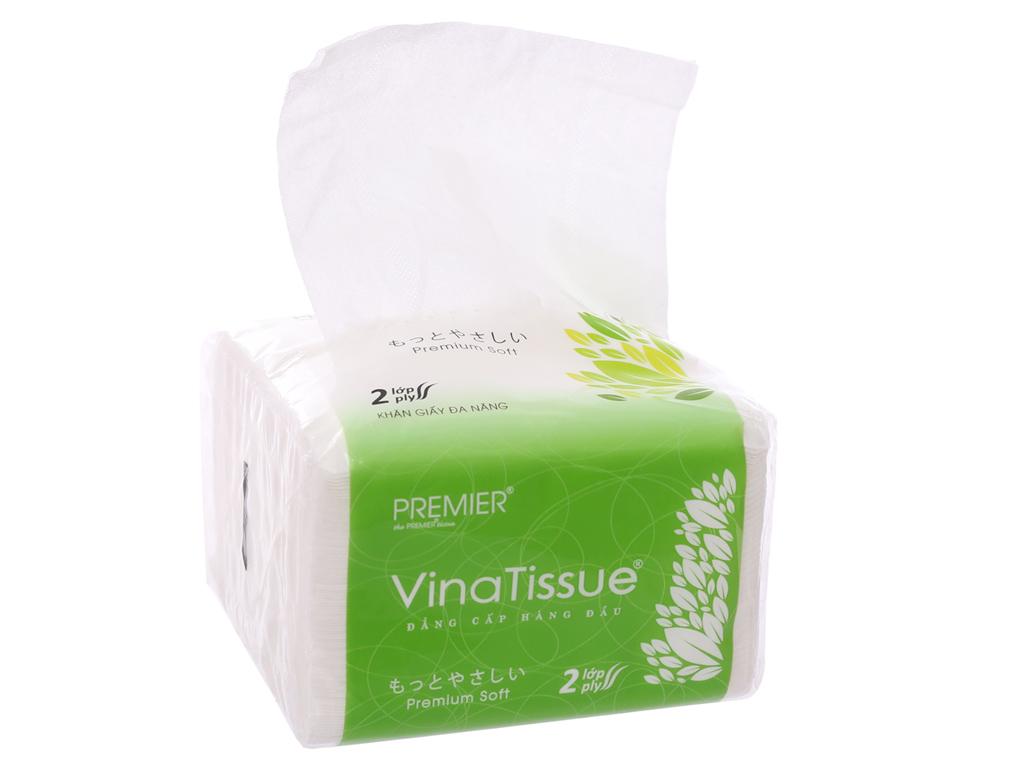 3 gói khăn giấy đa năng NTPM VinaTissue 2 lớp (200 tờ/gói) 3
