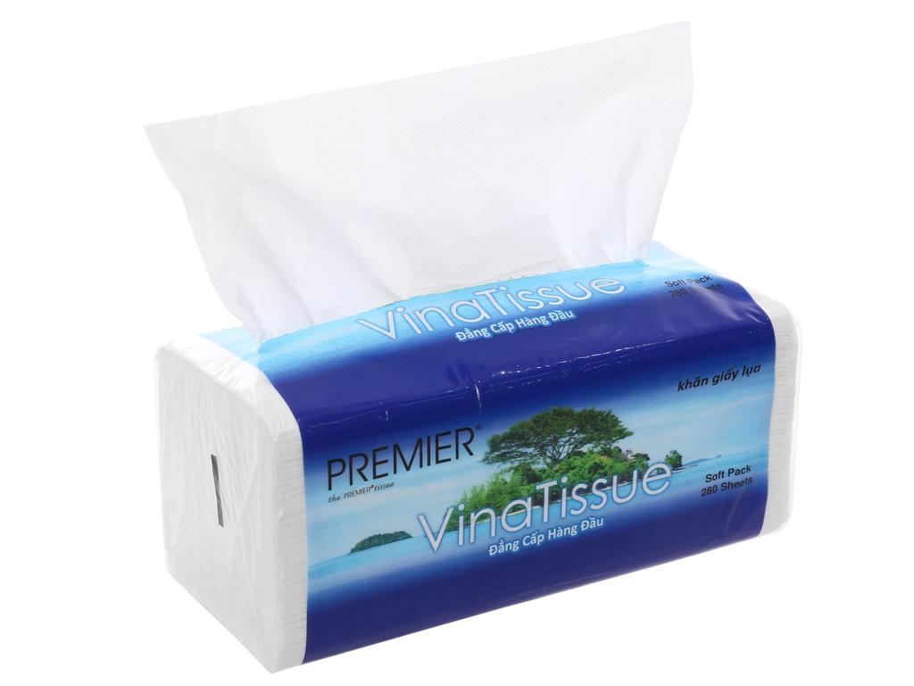 Khăn giấy lụa NTPM VinaTissue 2 lớp gói 280 tờ 3