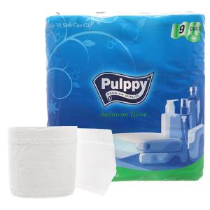 9 cuộn giấy vệ sinh cao cấp Pulppy 2 lớp