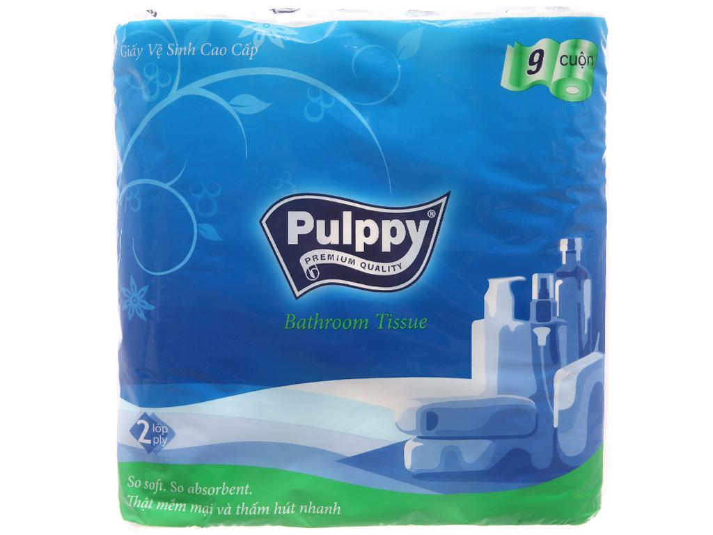 9 cuộn giấy vệ sinh Pulppy 2 lớp 1