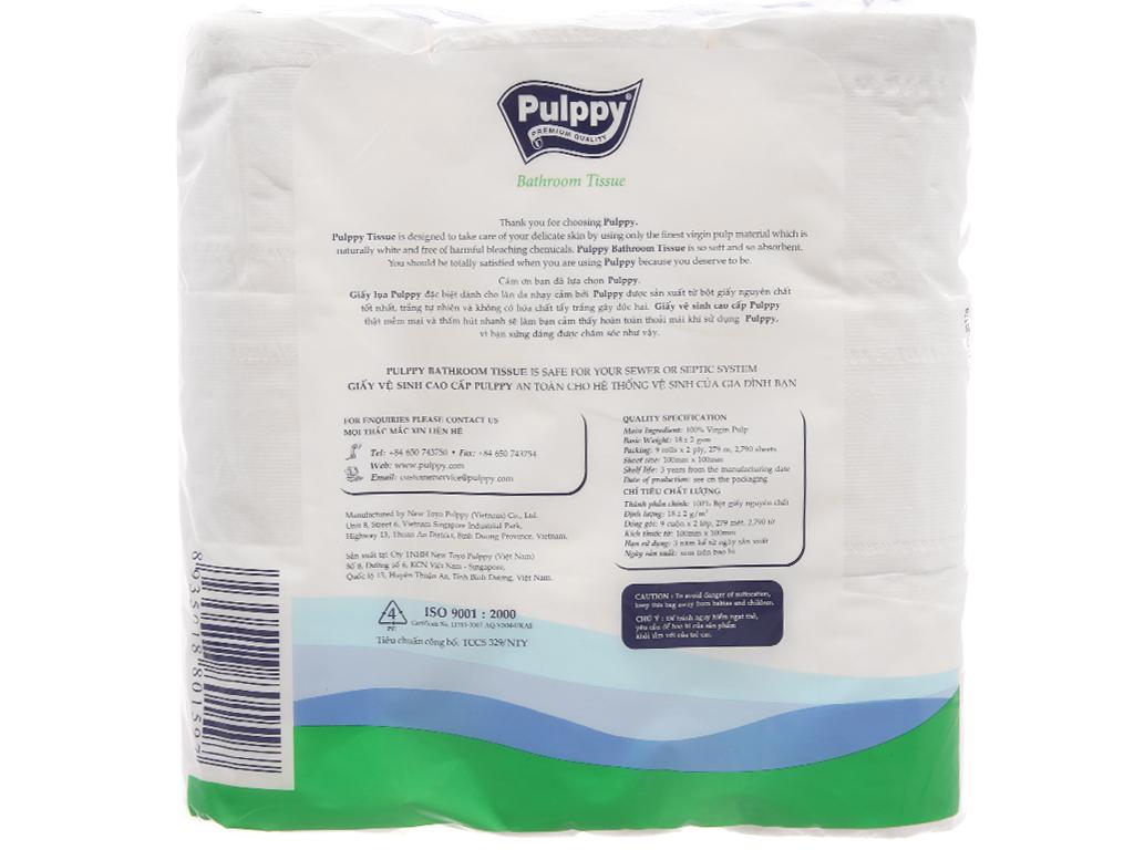 9 cuộn giấy vệ sinh Pulppy 2 lớp 2