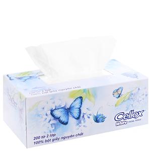 Khăn giấy Cellox White hộp 200 tờ 2 lớp