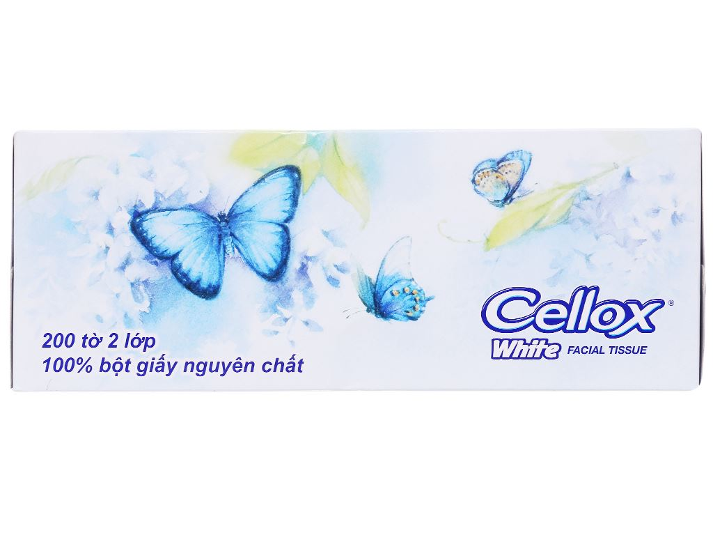 Khăn giấy Cellox White 2 lớp hộp 200 tờ 2