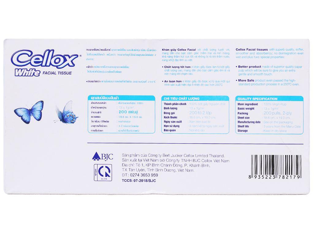 Khăn giấy Cellox White 2 lớp hộp 200 tờ 3