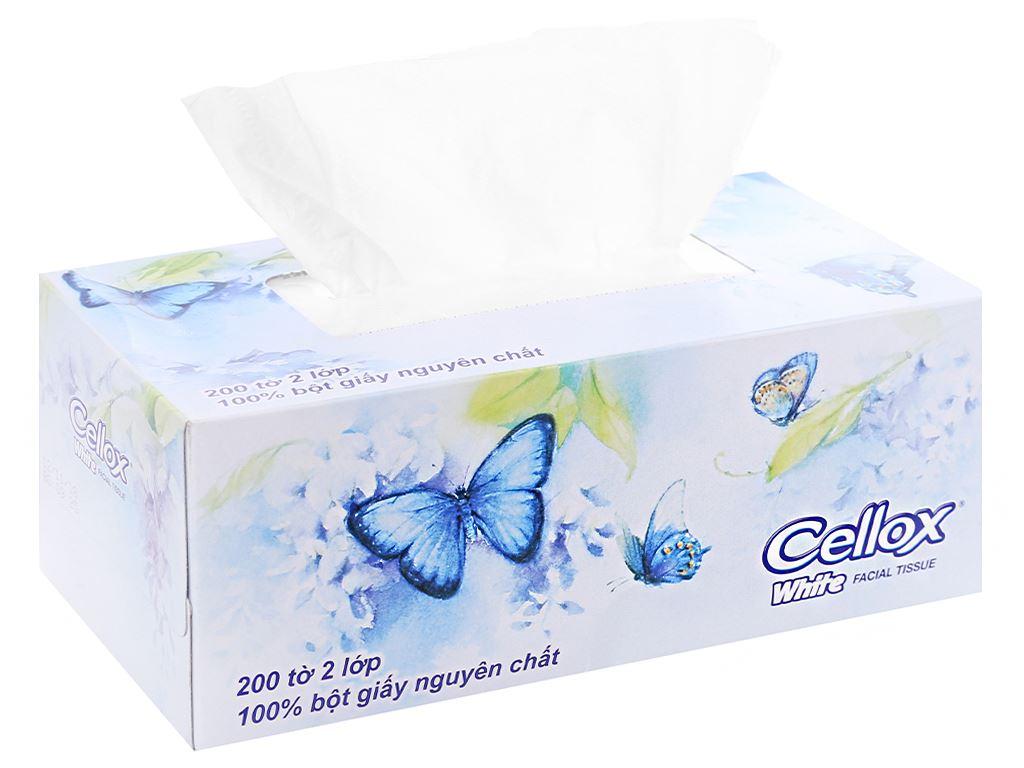 Khăn giấy Cellox White 2 lớp hộp 200 tờ 5