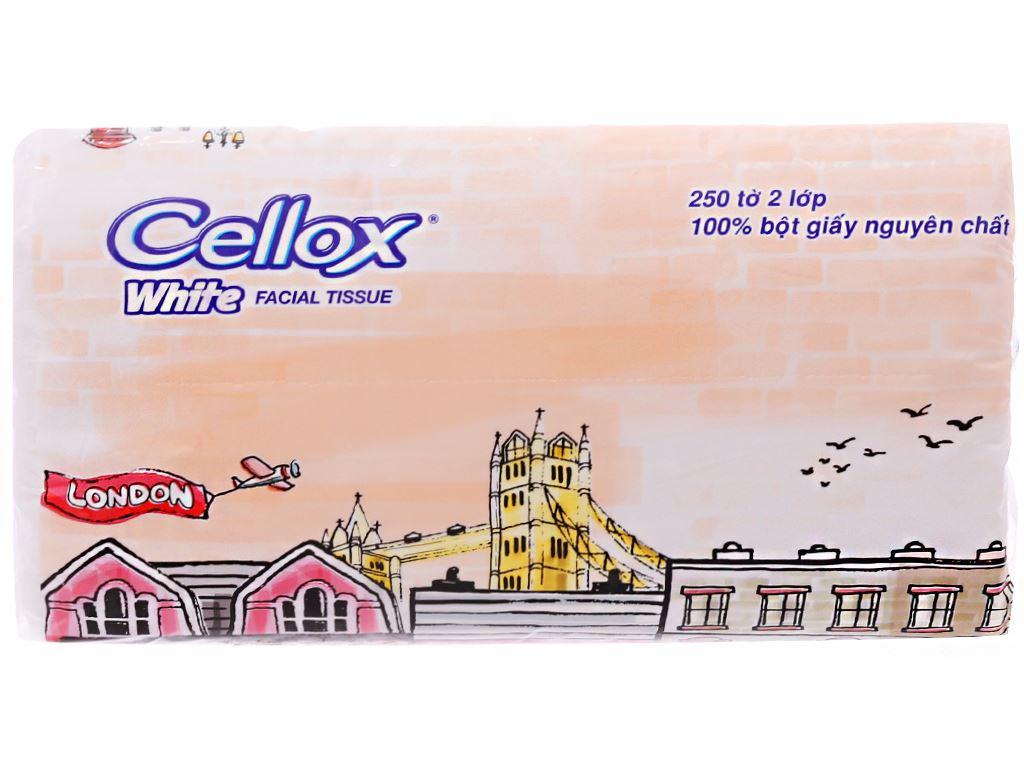 Khăn giấy Cellox White 2 lớp gói 250 tờ 1