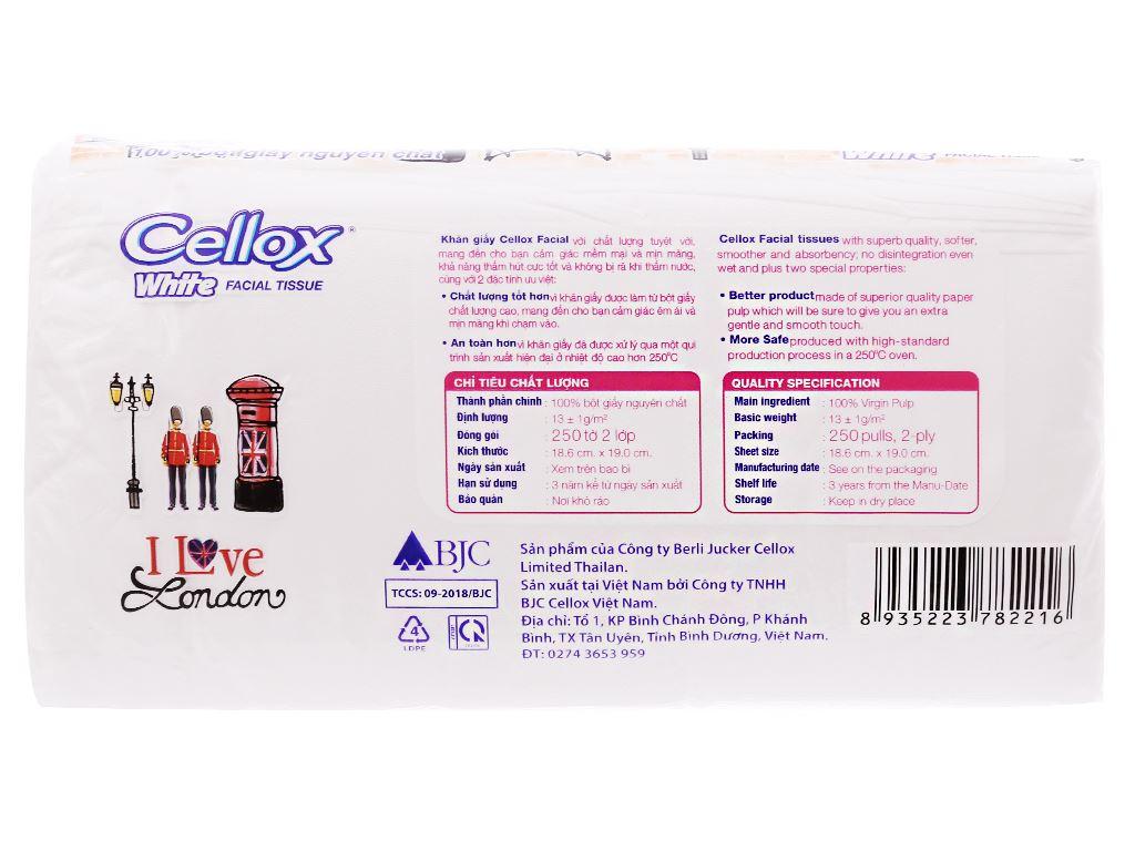 Khăn giấy Cellox White 2 lớp gói 250 tờ 3