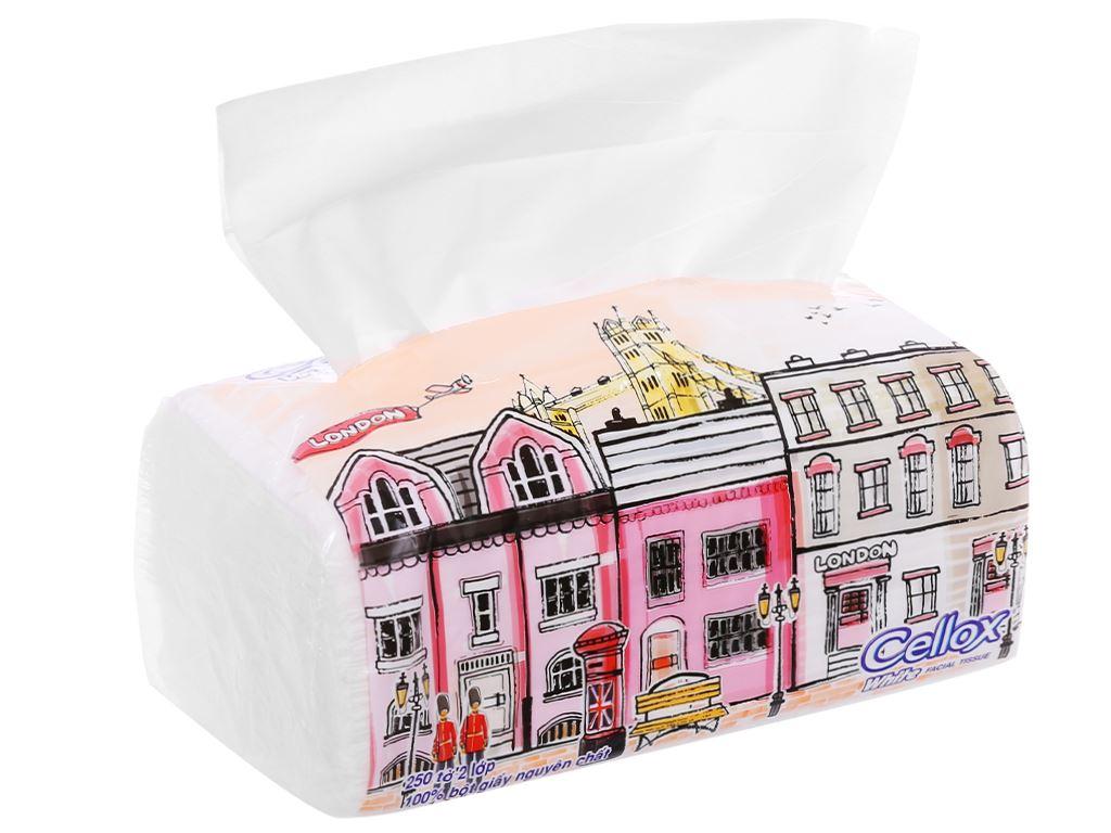 Khăn giấy Cellox White 2 lớp gói 250 tờ 5