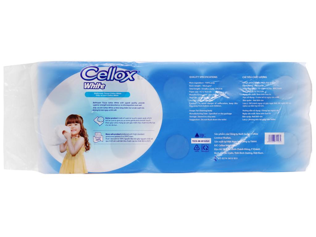 10 cuộn giấy vệ sinh Cellox White 2 lớp 2